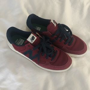 Red new balance sneakers, never worn!